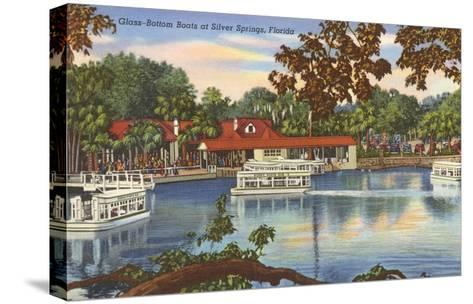 Glass Bottom Boats, Silver Springs, Florida--Stretched Canvas Print
