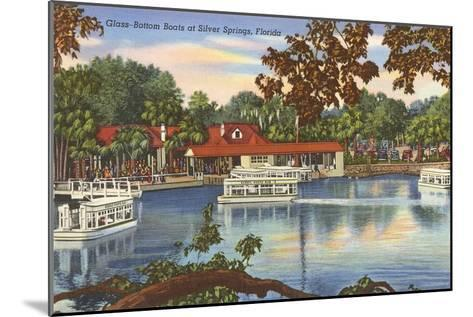 Glass Bottom Boats, Silver Springs, Florida--Mounted Art Print