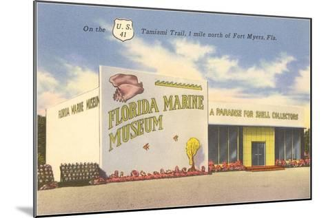 Florida Marine Museum, Ft. Myers, Florida--Mounted Art Print