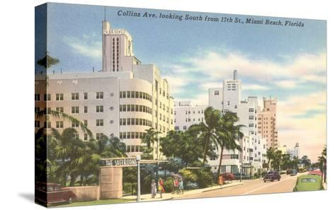 Collins Avenue, Miami Beach, Florida--Stretched Canvas Print