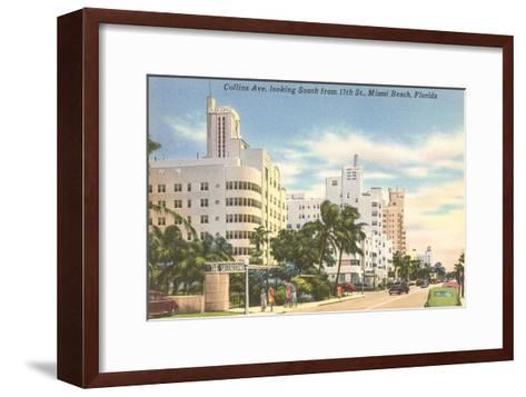 Collins Avenue, Miami Beach, Florida--Framed Art Print