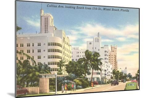 Collins Avenue, Miami Beach, Florida--Mounted Art Print