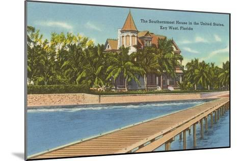 Southernmost House, Key West, Florida--Mounted Art Print