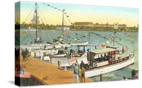 Pier, West Palm Beach, Florida--Stretched Canvas Print