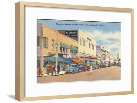 Downtown Ft. Lauderdale, Florida--Framed Art Print