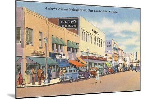 Downtown Ft. Lauderdale, Florida--Mounted Art Print