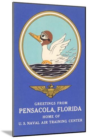 Naval Air Center, Pensacola, Florida, Duck with Goggles--Mounted Art Print