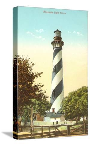 Anastasia Lighthouse, St.Augustinee, Florida--Stretched Canvas Print