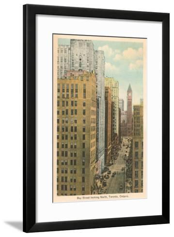 Bay Street, Toronto, Canada--Framed Art Print