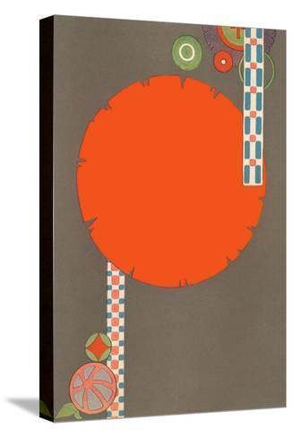 Orange Circle, Modern Shapes--Stretched Canvas Print