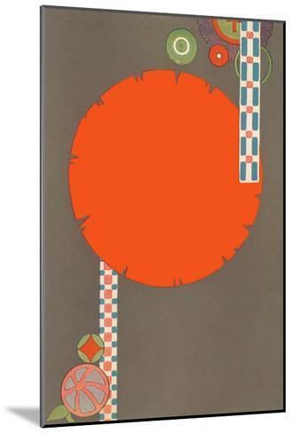 Orange Circle, Modern Shapes--Mounted Art Print