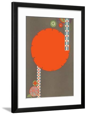 Orange Circle, Modern Shapes--Framed Art Print