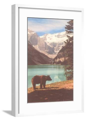 Black Bear near Lake Louise, Alberta, Canada--Framed Art Print