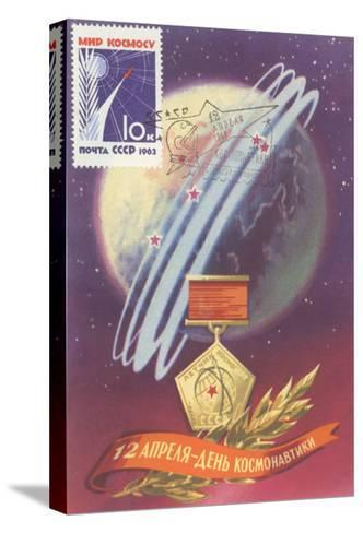 Soviet Space Program Medal--Stretched Canvas Print