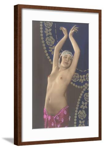 Topless Belly Dancer--Framed Art Print