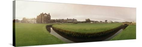 Golf Course with Buildings in the Background, the Royal and Ancient Golf Club, St. Andrews--Stretched Canvas Print