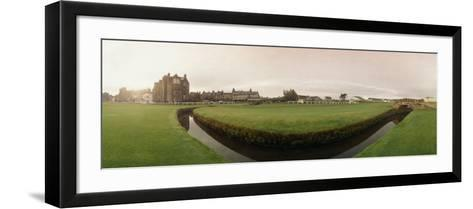 Golf Course with Buildings in the Background, the Royal and Ancient Golf Club, St. Andrews--Framed Art Print