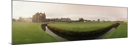 Golf Course with Buildings in the Background, the Royal and Ancient Golf Club, St. Andrews--Mounted Photographic Print