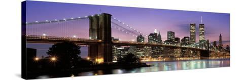 Brooklyn Bridge New York Ny, USA--Stretched Canvas Print