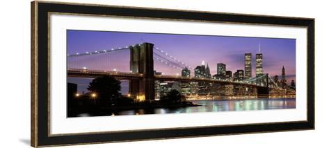Brooklyn Bridge New York Ny, USA--Framed Art Print