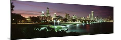 Night Skyline Chicago Il, USA--Mounted Photographic Print
