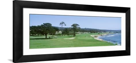 Pebble Beach Golf Course Ca, USA--Framed Art Print