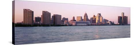 Skyline Detroit Mi, USA--Stretched Canvas Print