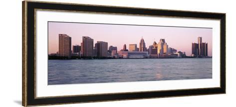 Skyline Detroit Mi, USA--Framed Art Print