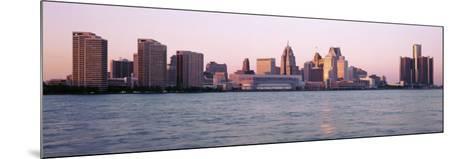 Skyline Detroit Mi, USA--Mounted Photographic Print