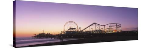 Amusement Park Santa Monica Ca, USA--Stretched Canvas Print