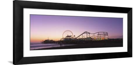 Amusement Park Santa Monica Ca, USA--Framed Art Print