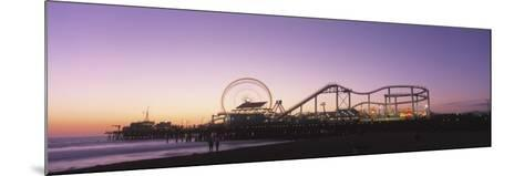Amusement Park Santa Monica Ca, USA--Mounted Photographic Print
