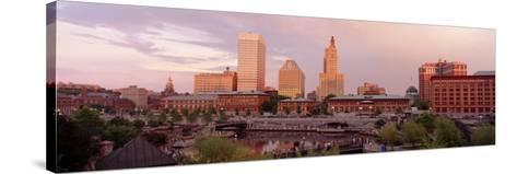 Waterplace Park Skyline Providence Rhode Island, USA--Stretched Canvas Print