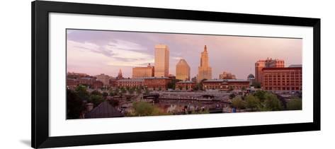 Waterplace Park Skyline Providence Rhode Island, USA--Framed Art Print
