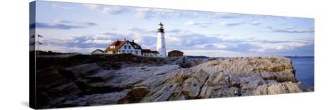 Maine, Cape Elizabeth, Portland Head Lighthouse--Stretched Canvas Print