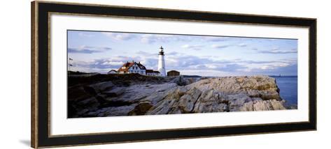 Maine, Cape Elizabeth, Portland Head Lighthouse--Framed Art Print