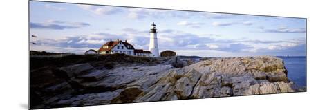 Maine, Cape Elizabeth, Portland Head Lighthouse--Mounted Photographic Print