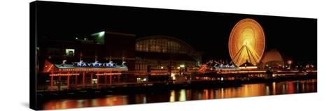Night Navy Pier Chicago Il, USA--Stretched Canvas Print