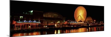 Night Navy Pier Chicago Il, USA--Mounted Photographic Print