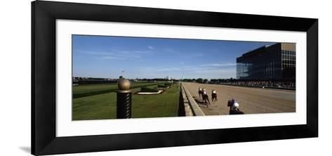 Four People Participating in a Horse Race, Calder Race Course, Miami Gardens, Miami-Dade County--Framed Art Print