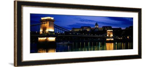 Szechenyi Bridge Royal Palace Budapest Hungary--Framed Art Print