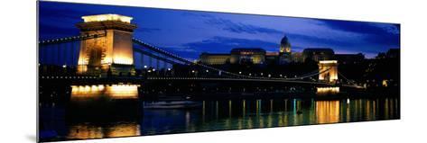 Szechenyi Bridge Royal Palace Budapest Hungary--Mounted Photographic Print