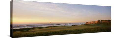 Golf Course on the Coast, Half Moon Bay, California, USA--Stretched Canvas Print