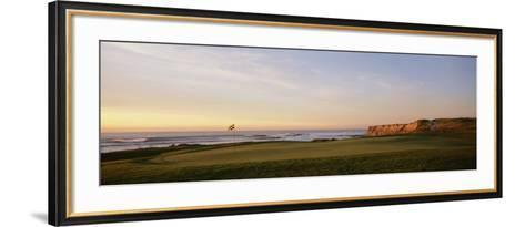 Golf Course on the Coast, Half Moon Bay, California, USA--Framed Art Print