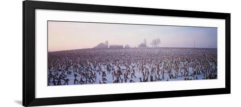 Illinois, Farm, Winter--Framed Art Print