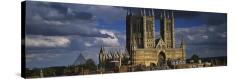 Facade of a Cathedral, Lincoln Cathedral, Lincoln, Lincolnshire, England--Stretched Canvas Print