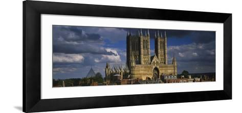 Facade of a Cathedral, Lincoln Cathedral, Lincoln, Lincolnshire, England--Framed Art Print