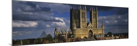 Facade of a Cathedral, Lincoln Cathedral, Lincoln, Lincolnshire, England--Mounted Photographic Print