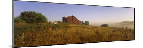 Barn in a Field, Iowa County, Wisconsin, USA--Mounted Photographic Print