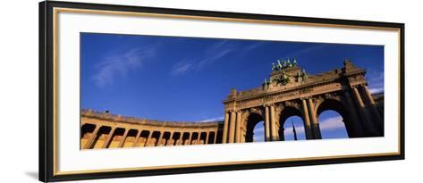 Low Angle View of a Triumphal Arch, Palais Du Cinquantenaire, Brussels, Belgium--Framed Art Print